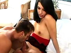 Tranny and guy play sixty nine oral